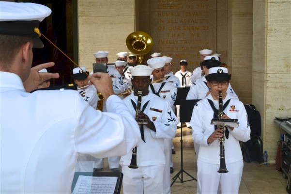 members-of-the-u-s-naval-forces-europe-band-play-during-the-memorial-day-ceremon