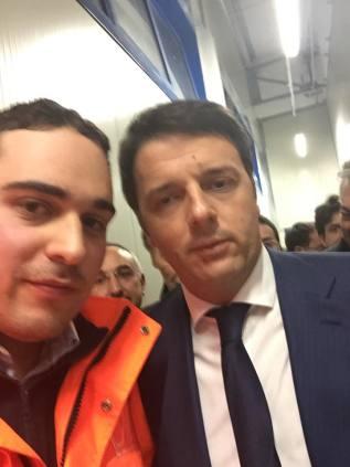 Matteo Renzi con Giovanni D'Agostino