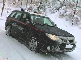Carabinieri sulla neve